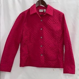 Chico's   Quilted Pink Jacket